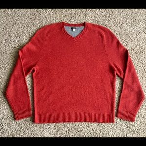 Express Mens Size XL Burnt Orange Wool Sweater